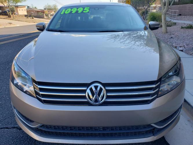 2015 GOLD Volkswagen Passat Wolfsburg Edition 6A (1VWAT7A37FC) with an 1.8L L4 TURBO DIESEL engine, 6-Speed Automatic transmission, located at 323 E Dunlap Ave., Phoenix, AZ, 85020, (602) 331-9000, 33.567677, -112.069000 - Photo #0